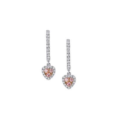 Pink Diamond Heart Drops