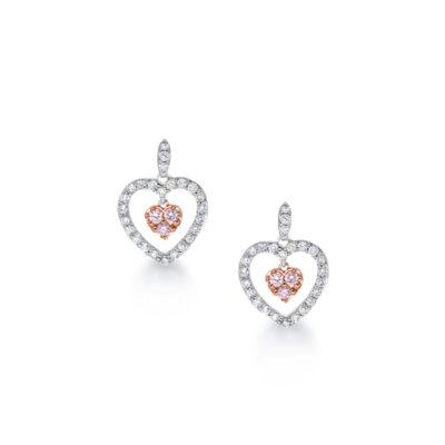 Heart shaped drop earrings