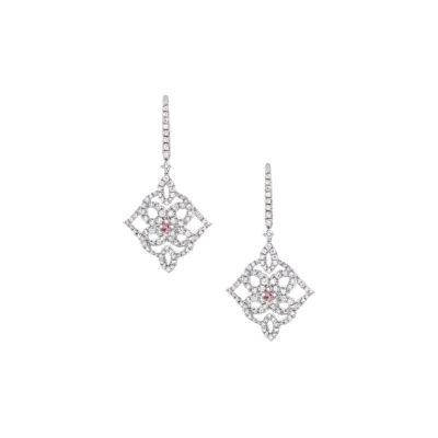 Art Deco Pink Diamond Drops