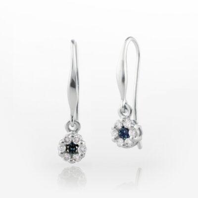 Sapphire and diamond drops