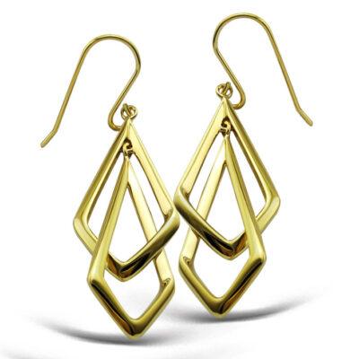 Double Frame Drop Earrings