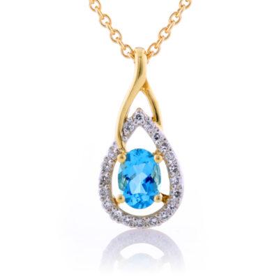 Aquamarine and Diamond Frame