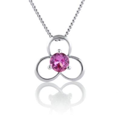 Flower Sapphire Pendant