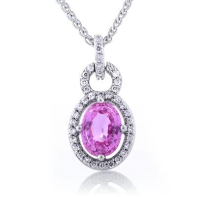 Pink Sapphire Frame Pendant