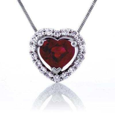 Heart Shape Ruby Pendant