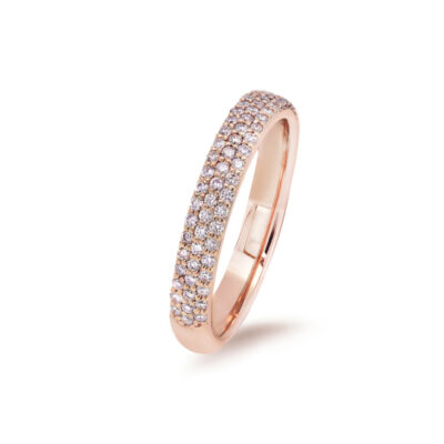 Triple Row Pink Pave Ring