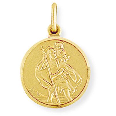 Round St Christopher Medallion