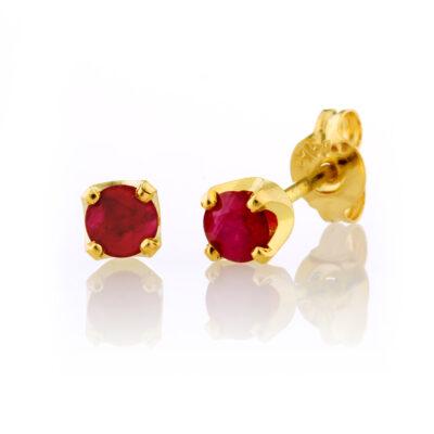 Four Claw Ruby Studs