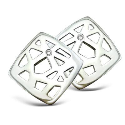 Web Style Stud Earrings