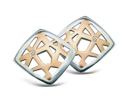 Two-Tone Web Style Studs