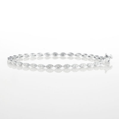 Marquise link tennis bracelet