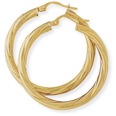 Classic Twisted Hoop Earrings