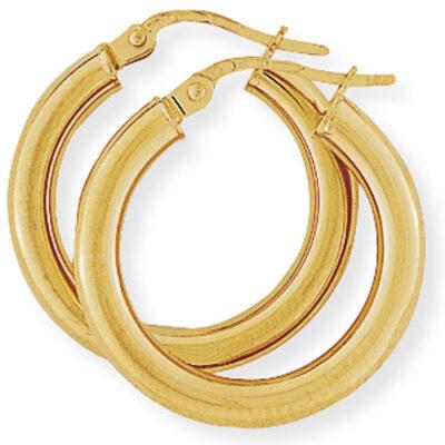 Classic polished hoop earrings