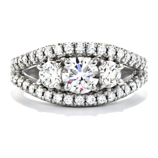 Idealistic Three Stone Ring