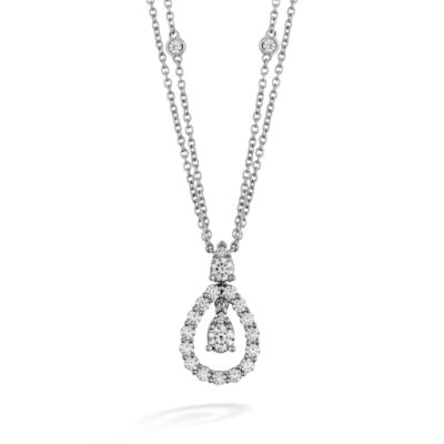 Aerial Diamond Drop Necklace