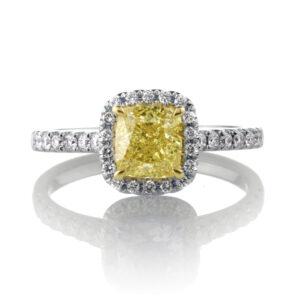 Stunning Yellow Diamond Halo