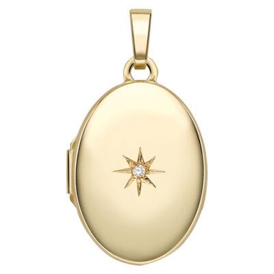 Oval Diamond Locket