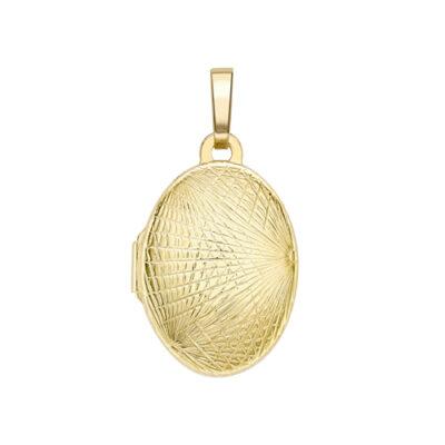Sun ray oval locket