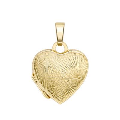 Heart shaped ray locket