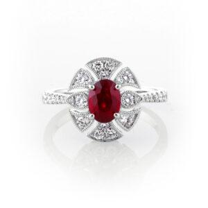 Art Deco Ruby Ring