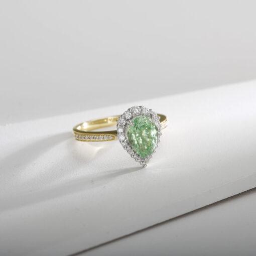 Mint Green Garnet Halo
